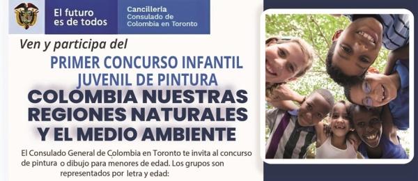 Primer concurso infantil y juvenil de pintura: Colombia: nuestras regiones naturales